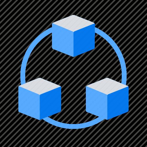 big data, cdn, scalable icon