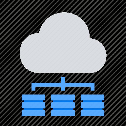 cloud computing, scalability, server icon