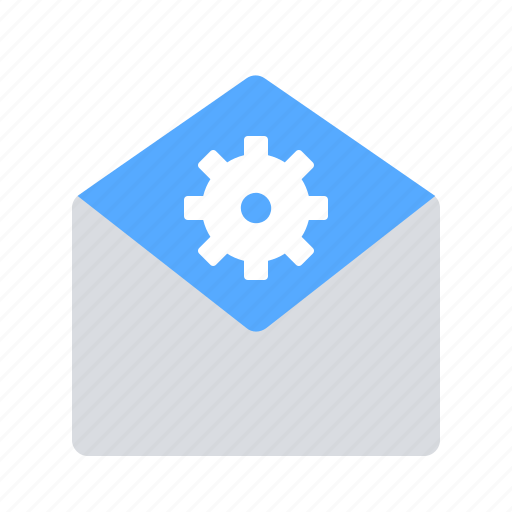 email, gear, support icon