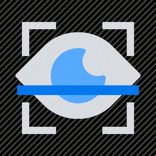 biometric, eye, scan icon