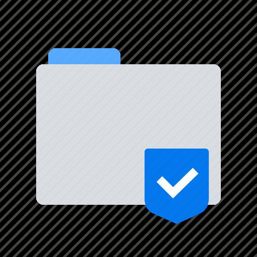 encryption, folder, shield icon