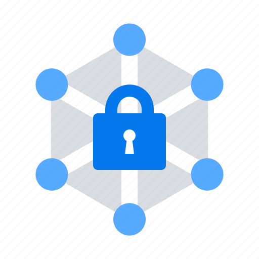 lock, network, protection icon