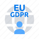 data protection, eu, gdpr, regilation icon