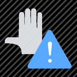 palm, penalties, stop, warning icon
