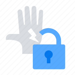 breaches, lock, penalty, warning icon