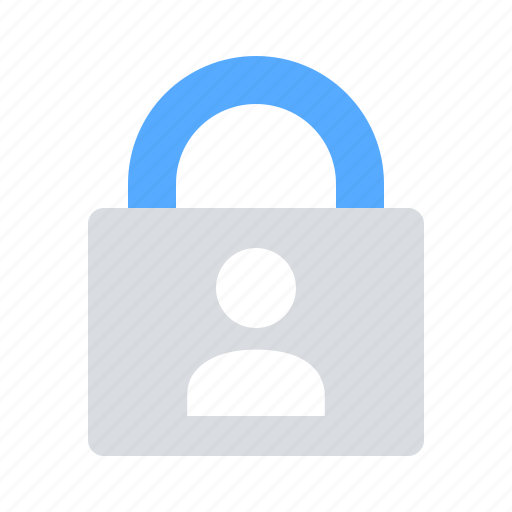 encrypted, lock, personal data, protection icon