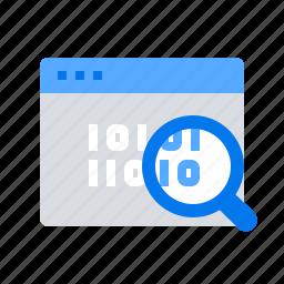 audit, data, information, webpage icon