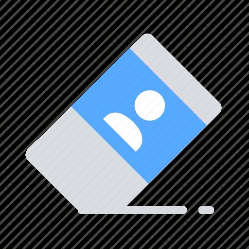 erase, eraser, gdpr, personal data icon