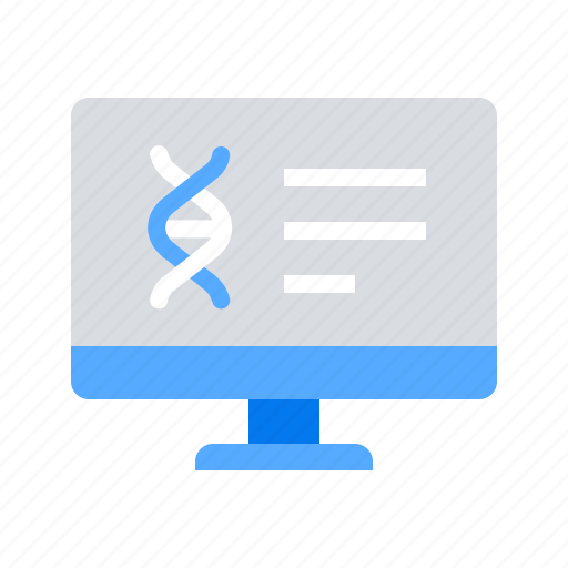 computer, dna, education, online courses icon