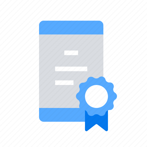 Certificate, dimploma, mobile icon - Download on Iconfinder