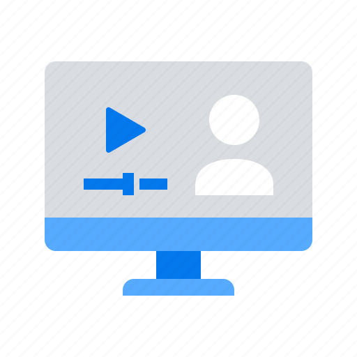 lesson, online, tutorial, video icon