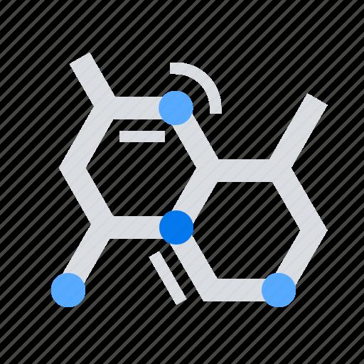 chemistry, formula, molecular icon