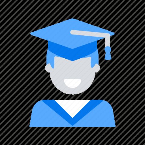 education, graduate, student icon