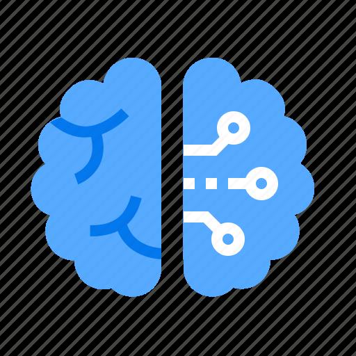 brain, creative, technical icon