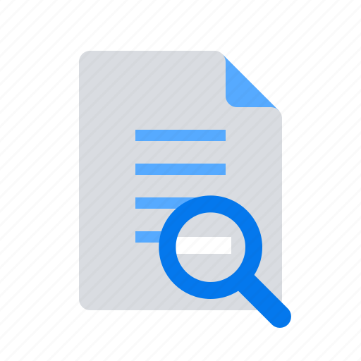 audit, doc, document, magnifier, optimization, search, text icon