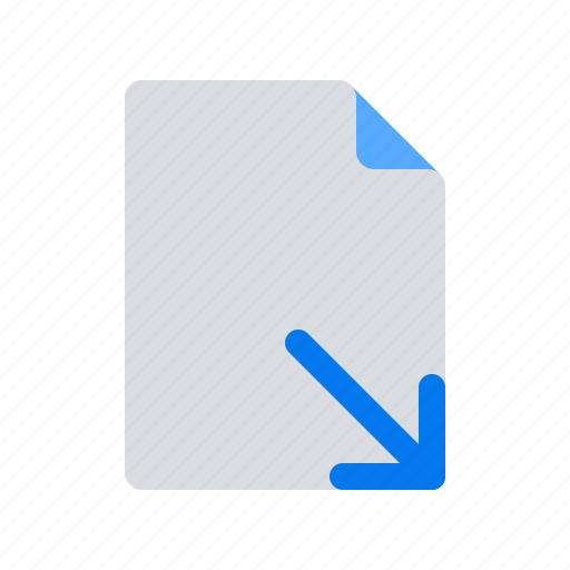 arrow, doc, document, down, download, file, text icon