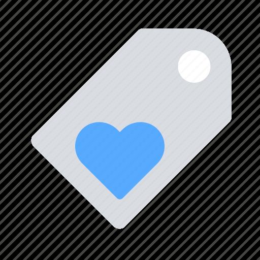 favourite, heart, label, tag icon