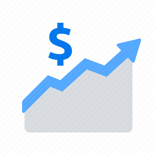 analytics, arrow, dollar, earnings, growth, statistics, up icon