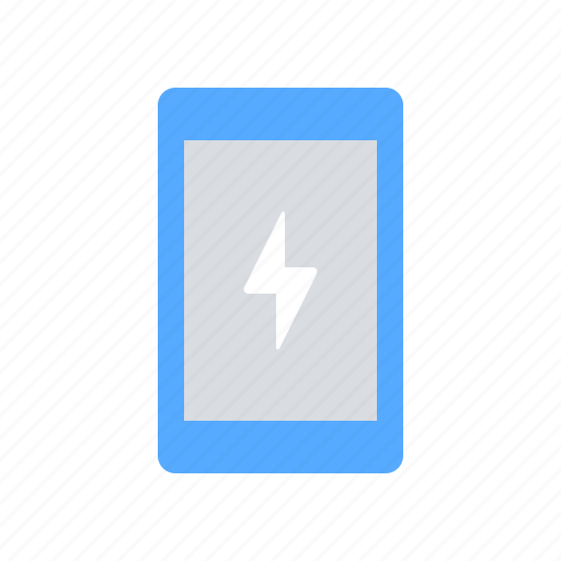bolt, charge, device, electricity, energy, mobile, power icon