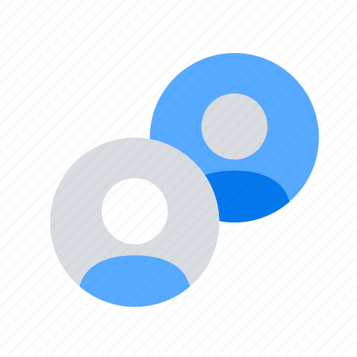 accounts, connection, couple, pair, partners, profiles, relationship icon