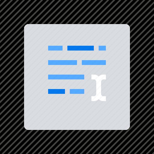 edit, keywords, type icon