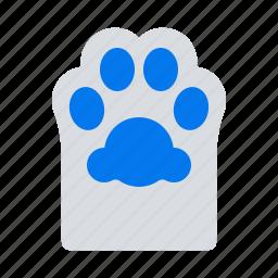 animal, cat, foot, footprint, paw, pet, trace icon