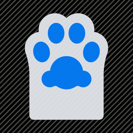 cat, footprint, paw icon