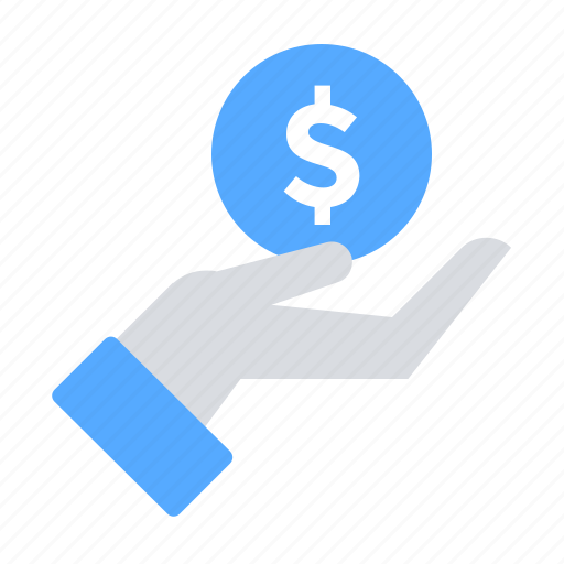 Coin, hand, money icon - Download on Iconfinder