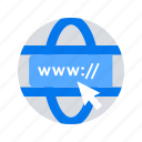 domain, internet, link, web address icon