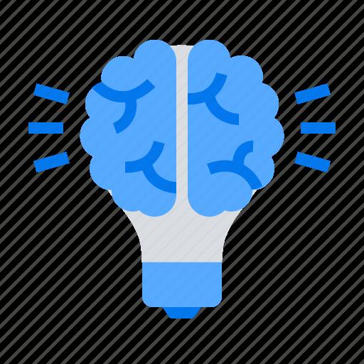 Brain, bulb, creative idea icon - Download on Iconfinder