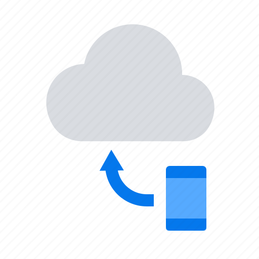 backup, cloud, mobile icon