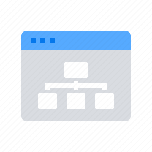 hierarchy, navigation, sitemap, structure icon