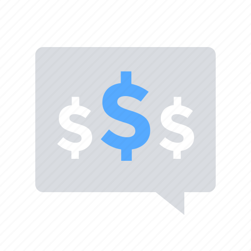 budget discussion, communication, finance icon