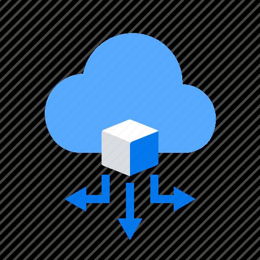 big data, cloud, database, storage icon