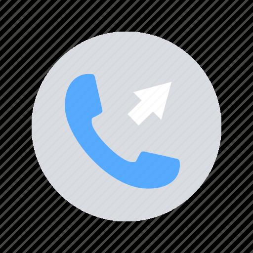 call, mobile, outgoing icon