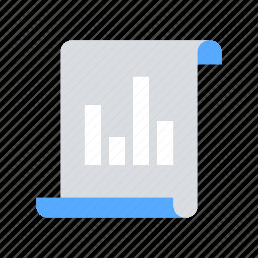 diagram, document, graph icon