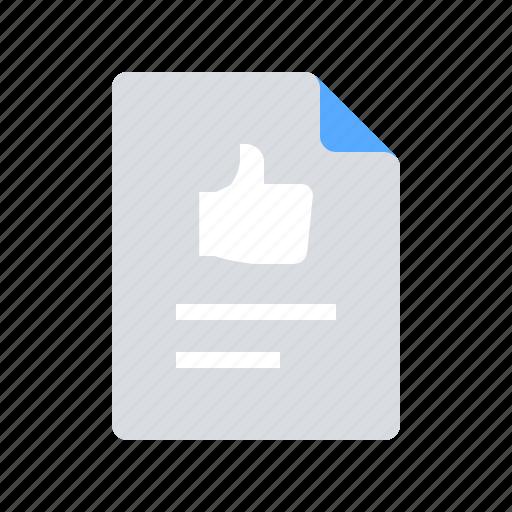 document, feedback, testimonial icon