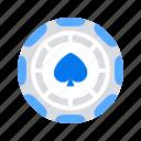 casino, chip, game icon