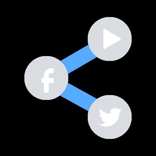 media, share, social icon