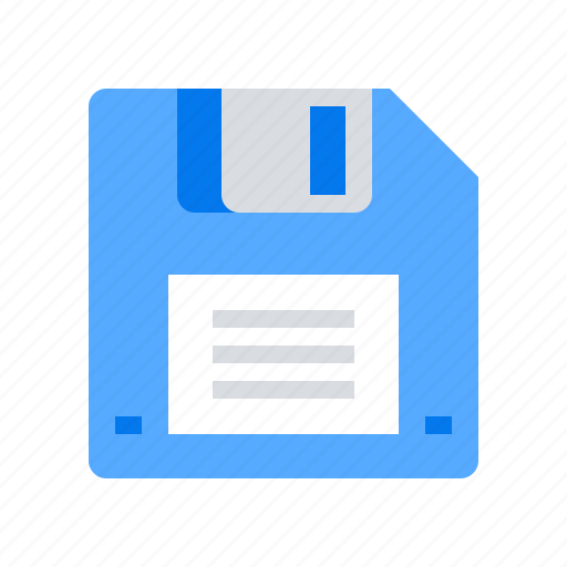 diskette, download, save icon