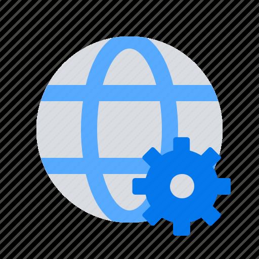 gear, settings, world icon