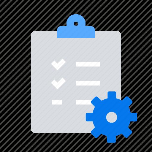 document, list, settings icon