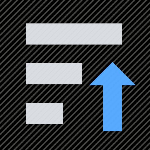 list, sort, up icon