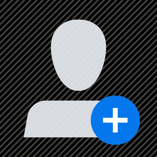 add, plus, profile icon