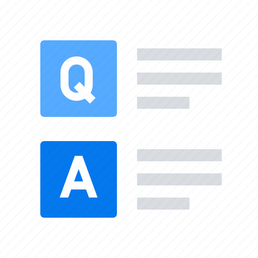 answer, question, solution icon
