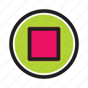 interface, media, music, player, stop, web