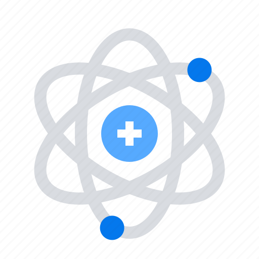atom, orbit, physics icon