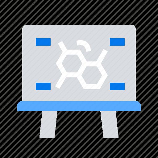 board, formula, molecular, presentation icon