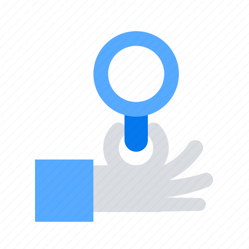 Hand, investigate, magnifier icon - Download on Iconfinder