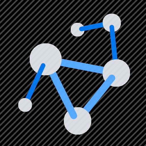 atom, formular, molecular icon